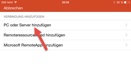Microsoft Remote Desktop App- iPhone pc oder Server