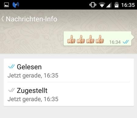 Nachricht Android  gelesen zugestellt WhatsApp – Wann ist die Nachrichten gelesen worden?