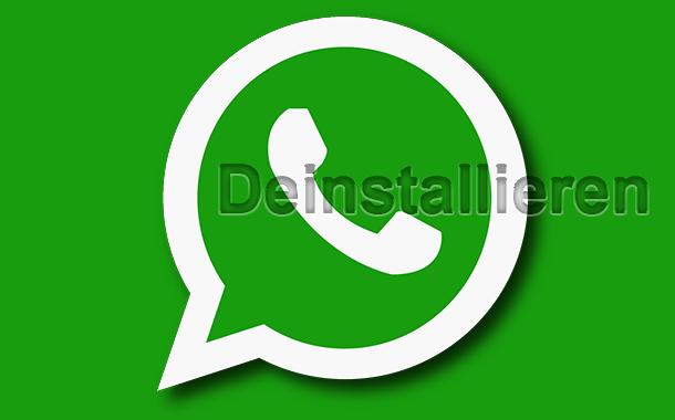 whatsapp deinstallieren entfernen loeschen - WhatsApp deinstallieren von iPhone, Android und Windows Phone