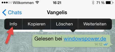 WhatsApp Wann ist die Nachrichten gelesen WhatsApp – Wann ist die Nachrichten gelesen worden?