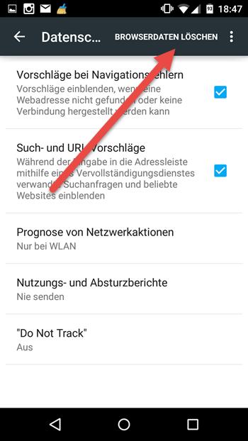 Andoid Browserdaten loeschen andoid-browserdaten-loeschen