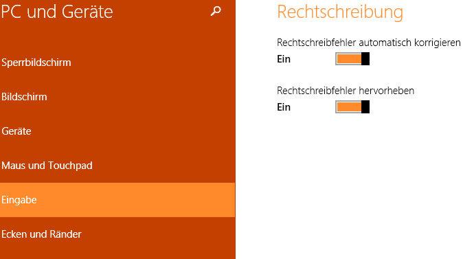 autokorrektur und rechtschreibpruefung deaktivieren - Windows 8.1 - Autokorrektur und Rechtschreibprüfung deaktivieren