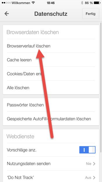 iphone chrome Browserverlauf loeschen iphone-chrome-browserverlauf-loeschen
