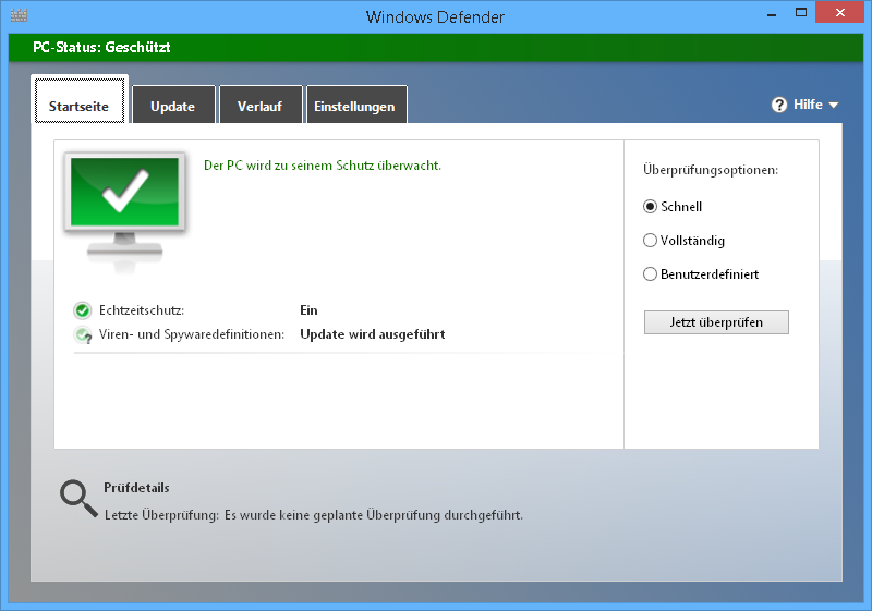 windows-defender-starten