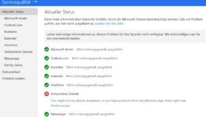 Microsoft-Dienste-Verfuegbarkeit