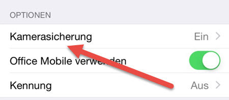 onedrive iphone kamerasicherung