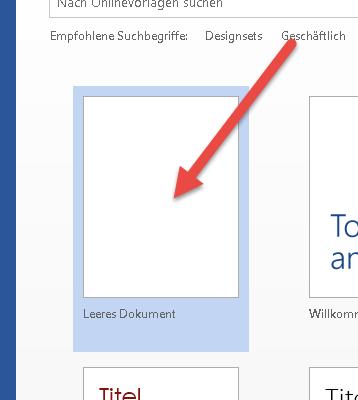 word leeres Dokument word-leeres-dokument
