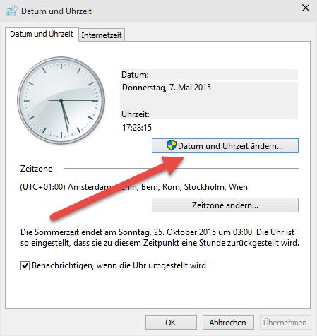 Datum und Uhrzeit ändern datum-und-uhrzeit-aendern
