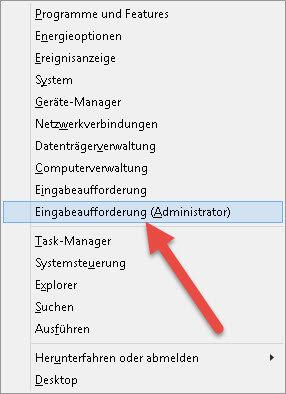 Eingabeaufforderung (Administrator) eingabeaufforderung-administrator
