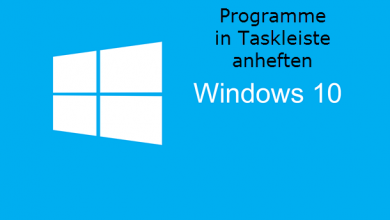 Programme in Taskleiste anheften unter Windows 10