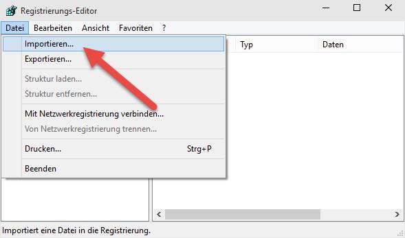 registry importieren Windows 10 – Registry sichern, Backup erstellen