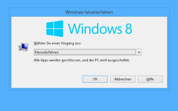 windows 8.1 ohne installation von anstehenden updates herunterfahren oder neustarten1 - Windows 8.1 ohne Installation von anstehenden Updates herunterfahren