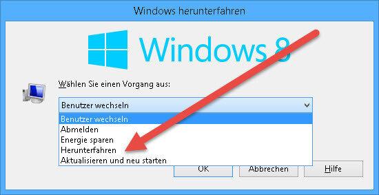Windows Herunterfahren windows-herunterfahren1