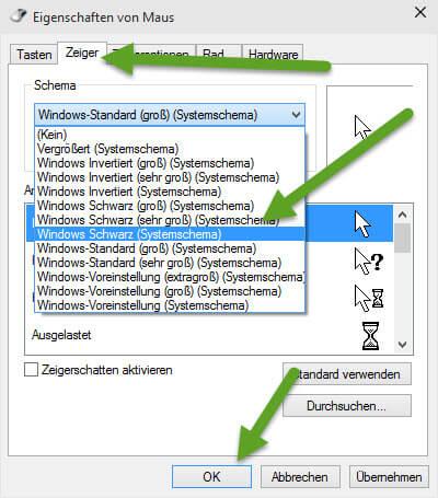 Windows Schwarzer Systemschema