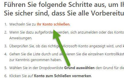 Microsoft-Konto loeschen Ihr Konto schliessen