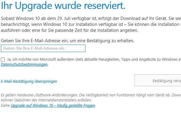 so reservieren sie windows 10 - So reservieren Sie Windows 10