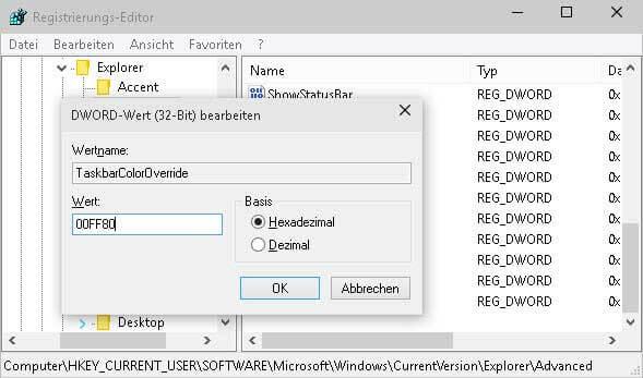 TaskbarColorOverride
