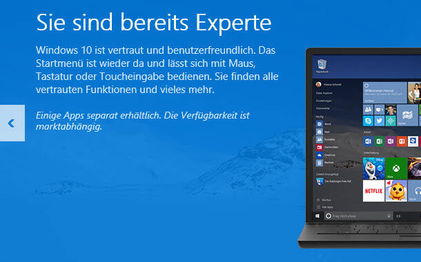 Bild von Windows 10 Upgrade Symbol für Reservierung wird nicht angezeigt, Gründe