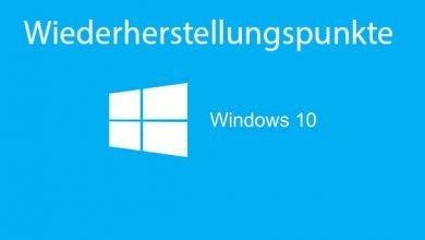 wiederherstellungspunkte windows 10 390x220 - Wiederherstellungspunkte aktivieren deaktivieren bei Windows 10