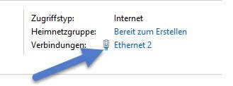 enthernet MAC-Adresse herausfinden mit Windows 10