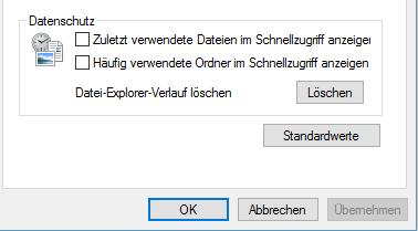 unbenannt - Häufig verwendete Dateien oder Ordner ausblenden Windows 10