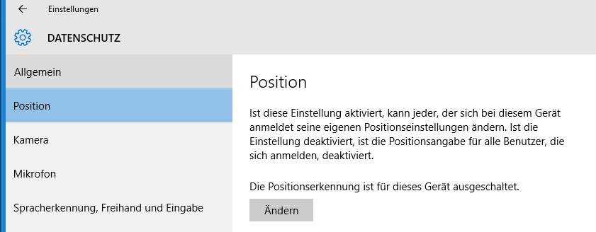 unbenannt4 - Windows 10 Ortung deaktivieren und Apps-Zugriff der Webcam