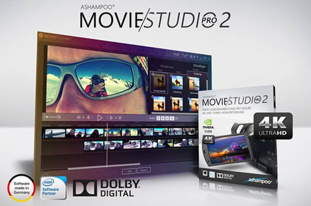ashampoo movie studio pro 2 - Ashampoo® Movie Studio Pro 2 Profi-Videobearbeitung mit Dolby Digital, 4K und Turbo-Konvertierung