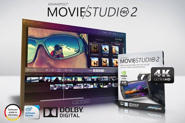 ashampoo movie studio pro 2 - Ashampoo® Movie Studio Pro 2 Profi-Videobearbeitung mit Dolby Digital, 4K und Turbo-Konvertierung