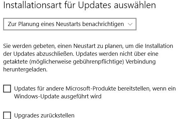 automatische updates windows 10 - Installation für Updates einstellen bei Windows 10