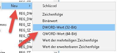 DWORD-Wert 32bit