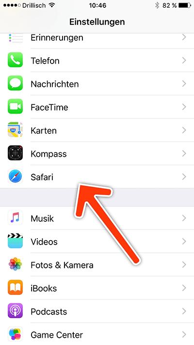 einstellungen safari - iPhone: Cookies blockieren
