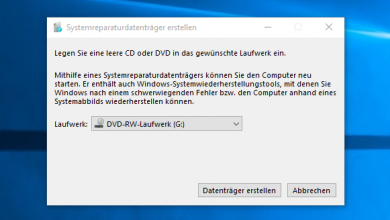 Bild von Windows 10 Recovery CD erstellen