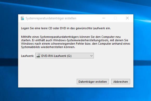unbenannt1 - Windows 10 Recovery CD erstellen