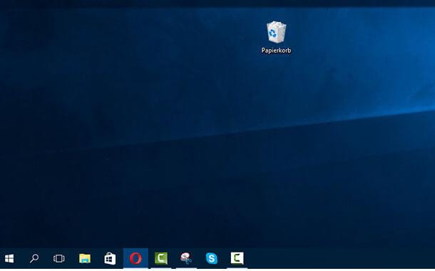 Windows 10 Papierkorb ausblenden und Dieser PC auf Desktop anzeigen