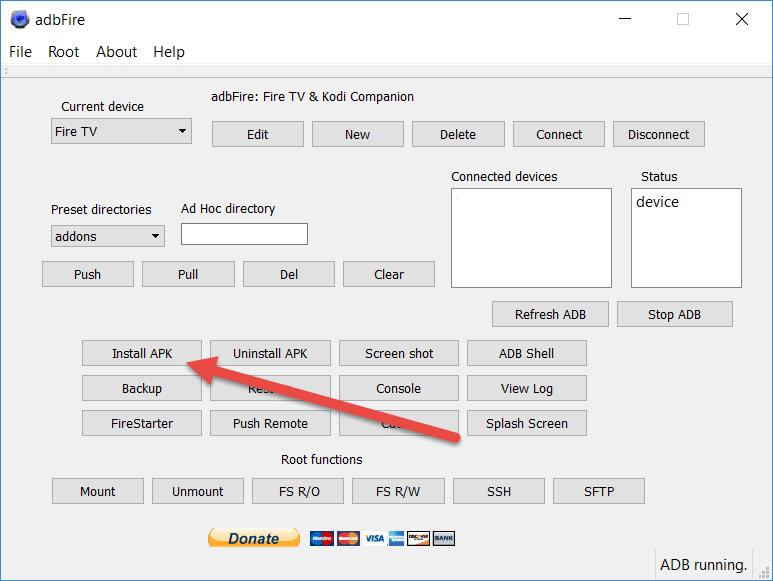 adbFire install APK