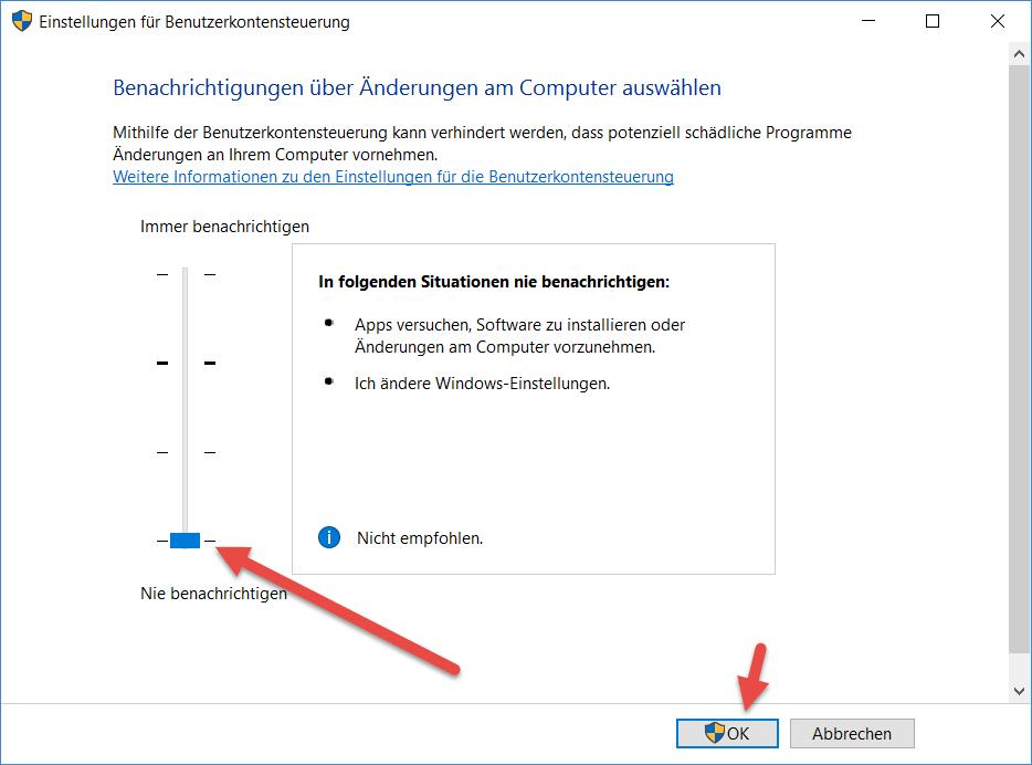 Benutzerkontensteuerung deaktivieren benutzerkontensteuerung-deaktivieren