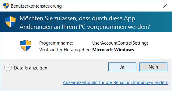 Benutzerkontensteuerung user-account-control