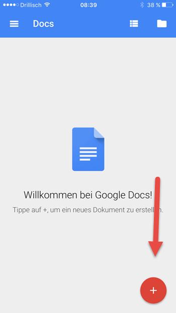 docs-app neues dokument