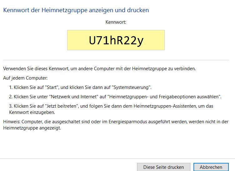 heimnetzgruppen-passwort