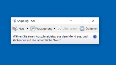 snipping tool screenshot erstellen bei windows 10 390x220 - Snipping Tool - Screenshot erstellen bei Windows 10