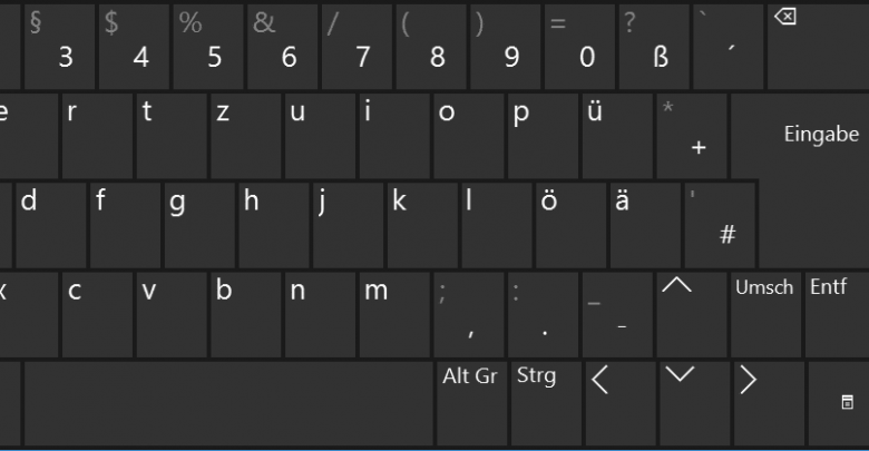 bildschirmtastatur windows 10 780x405 - Bildschirmtastatur bei Windows 10 aktivieren