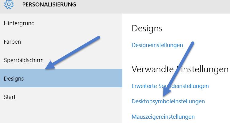 Desktopsymboleinstellungen desktopsymboleinstellungen