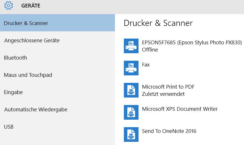 drucker scanner geraete