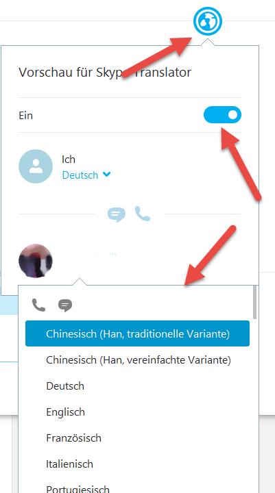 Skype-Translator aktivieren Skype Translator Echtzeitübersetzung aktivieren deaktivieren