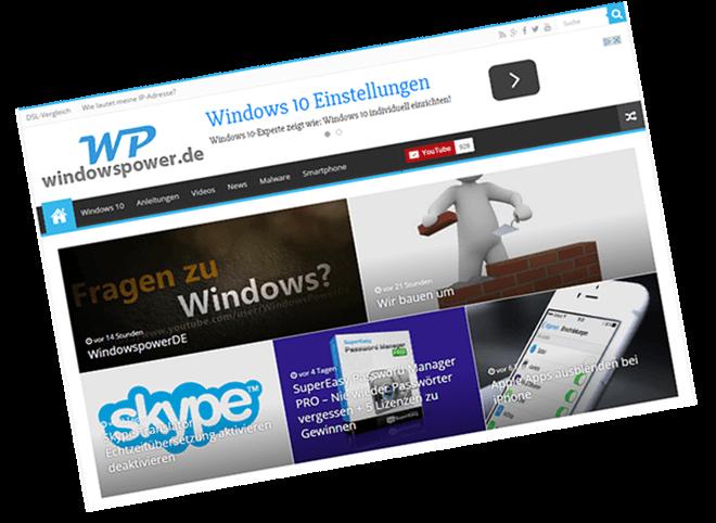 start - windowspower.de präsentiert sich im neuen Gewand