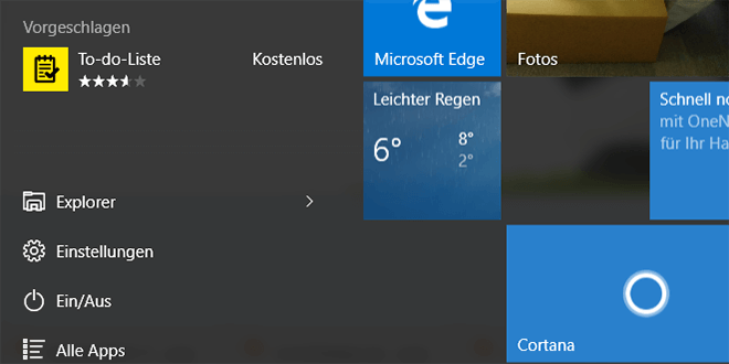 vorgeschlagene apps deaktivieren in startmenue bei windows 10 1 - Vorgeschlagene Apps deaktivieren im Startmenü bei Windows 10