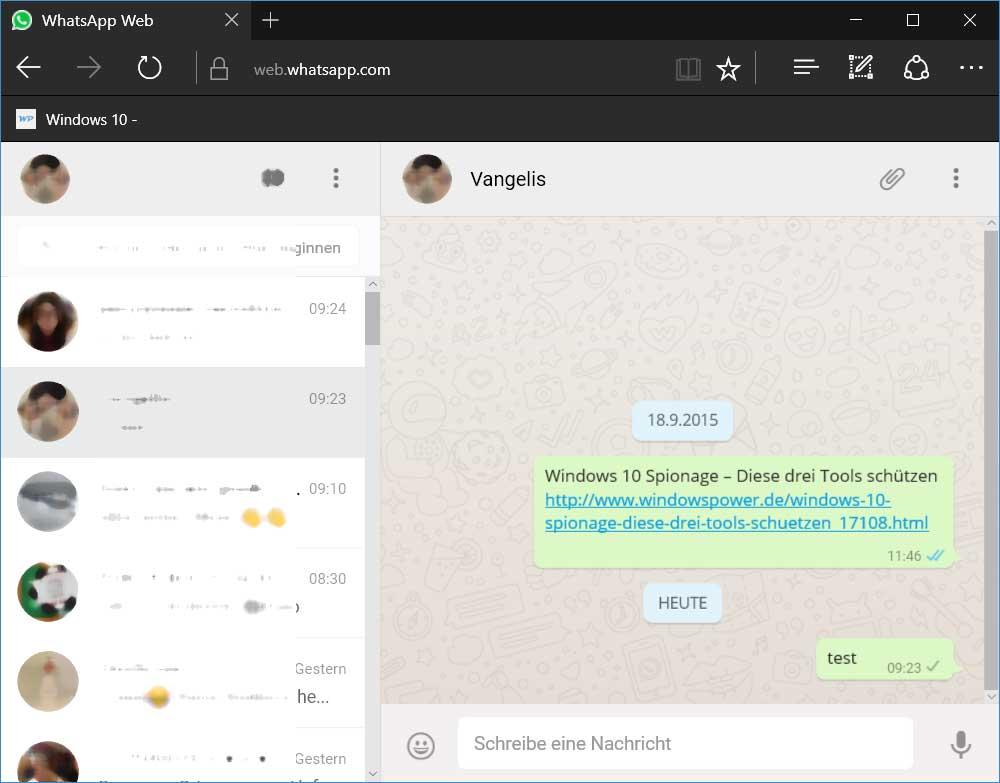 Webwhats-app-edge WhatsApp Web jetzt auch mit Microsoft Edge