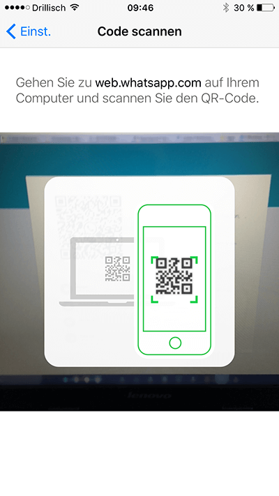 Webwhatsapp-QR-Code WhatsApp Web jetzt auch mit Microsoft Edge