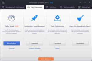 speed-up Advanced SystemCare – Windows Optimierung und mehr + 3 Lizenzen zu Gewinnen