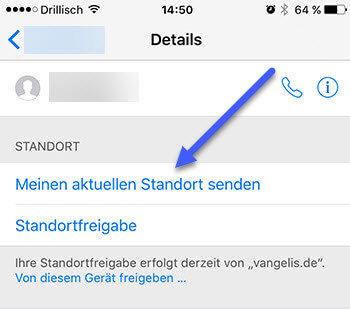 Aktuellen Standort mit iMessage senden aktuellen-standort-mit-imessage-senden